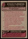 1977 Topps #9  Steve Furness  Back Thumbnail