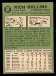 1967 Topps #98 BLK Rich Rollins  Back Thumbnail