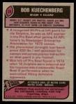 1977 Topps #33  Bob Kuechenberg  Back Thumbnail