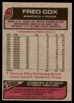 1977 Topps #46  Fred Cox  Back Thumbnail