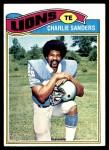 1977 Topps #85  Charlie Sanders  Front Thumbnail