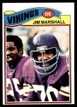 1977 Topps #105  Jim Marshall  Front Thumbnail