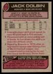 1977 Topps #113  Jack Dolbin  Back Thumbnail