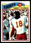 1977 Topps #129  Emmitt Thomas  Front Thumbnail