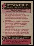 1977 Topps #132  Steve Niehaus  Back Thumbnail