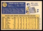 1970 Topps #718  Ed Spiezio  Back Thumbnail