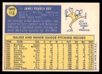 1970 Topps #113  Jim Ray  Back Thumbnail