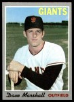 1970 Topps #58  Dave Marshall  Front Thumbnail