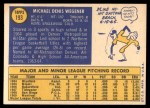 1970 Topps #193  Mike Wegener  Back Thumbnail