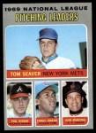 1970 Topps #69   -  Fergie Jenkins / Juan Marichal / Phil Niekro / Tom Seaver NL Pitching Leaders Front Thumbnail