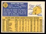 1970 Topps #302  Jeff James  Back Thumbnail
