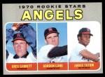 1970 Topps #642   -  Greg Garrett / Gordon Lund / Jarvis Tatum Angels Rookies Front Thumbnail