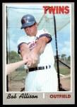 1970 Topps #635  Bob Allison  Front Thumbnail