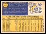1970 Topps #177  Jim Northrup  Back Thumbnail