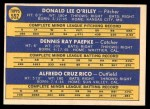 1970 Topps #552   -  Don O'Riley / Dennis Paepke / Fred Rico Royals Rookies Back Thumbnail