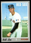 1970 Topps #279  Bill Lee  Front Thumbnail