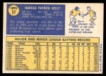 1970 Topps #57  Pat Kelly  Back Thumbnail