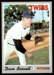 1970 Topps #325  Dave Boswell  Front Thumbnail