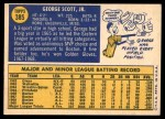 1970 Topps #385  George Scott  Back Thumbnail