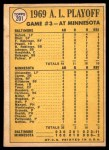 1970 Topps #201   -  Boog Powell / Andy Etchebarren 1969 AL Playoff - Game 3 - Birds Wrap it Up Back Thumbnail