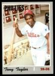 1970 Topps #324  Tony Taylor  Front Thumbnail