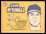 1970 Topps #469   -  Sam McDowell All-Star Back Thumbnail