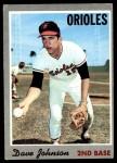 1970 Topps #45  Davey Johnson  Front Thumbnail