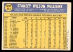 1970 Topps #353  Stan Williams  Back Thumbnail
