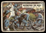 1962 Topps Civil War News #82   Destroying the Rails Front Thumbnail
