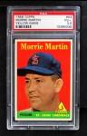 1958 Topps #53 YN Morrie Martin  Front Thumbnail