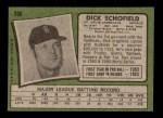 1971 Topps #396  Dick Schofield  Back Thumbnail