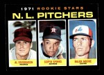 1971 Topps #747   -  Balor Moore / Al Severinsen / Scipio Spinks NL Rookies - Pitchers Front Thumbnail