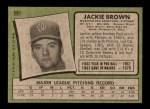 1971 Topps #591  Jackie Brown  Back Thumbnail
