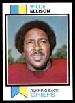 1973 Topps #205  Willie Ellison  Front Thumbnail