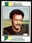 1973 Topps #210  Willie Brown  Front Thumbnail