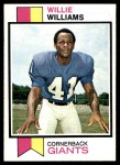 1973 Topps #231  Willie Williams  Front Thumbnail