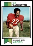1973 Topps #238  Vic Washington  Front Thumbnail