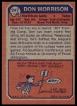 1973 Topps #247  Don Morrison  Back Thumbnail
