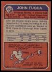 1973 Topps #264  John Fuqua  Back Thumbnail