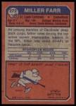 1973 Topps #272  Miller Farr  Back Thumbnail