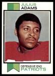 1973 Topps #278  Julius Adams  Front Thumbnail