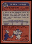 1973 Topps #284  Terry Owens  Back Thumbnail
