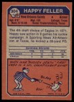 1973 Topps #304  Happy Feller  Back Thumbnail