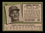 1971 Topps #538  Angel Bravo  Back Thumbnail