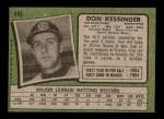 1971 Topps #455  Don Kessinger  Back Thumbnail