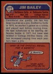 1973 Topps #177  Jim Bailey  Back Thumbnail