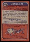 1973 Topps #194  Don Hultz  Back Thumbnail