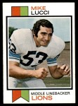 1973 Topps #195  Mike Lucci  Front Thumbnail