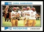 1973 Topps #250  Chris Hanburger  Front Thumbnail
