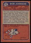 1973 Topps #290  Bob Johnson  Back Thumbnail